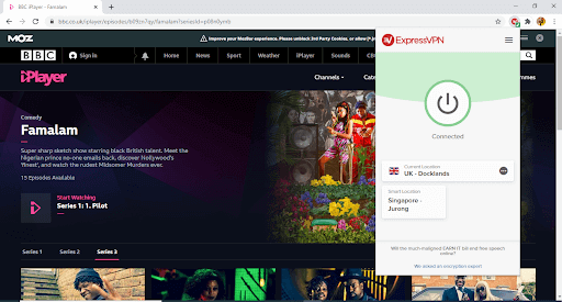 BBC iPlayer in Australia with ExpressVPN