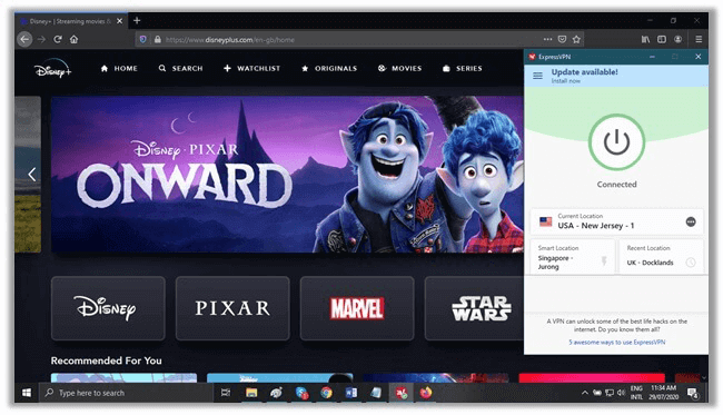 Disney Plus in NewZealand with ExpressVPN