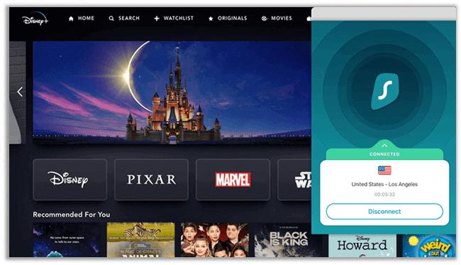 Disney Plus in New Zealand with Surfshark