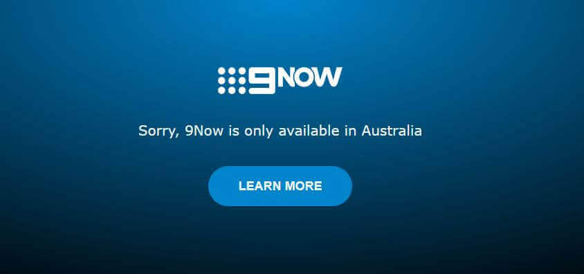 9now restricted outside Australia